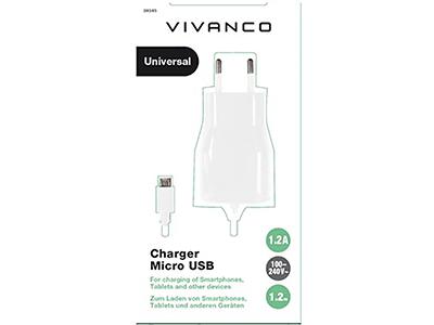 Vivanco 38345 - Cargador Micro Usb 1200ma