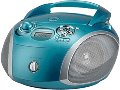 Grundig RCD 1445 USB AQUA/SILVER - Radio Cd