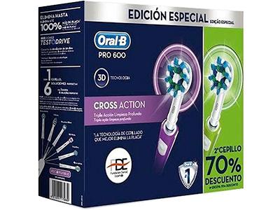 Braun DUO PRO600 VERDE+MORADO - Cepillo Dental Electrico