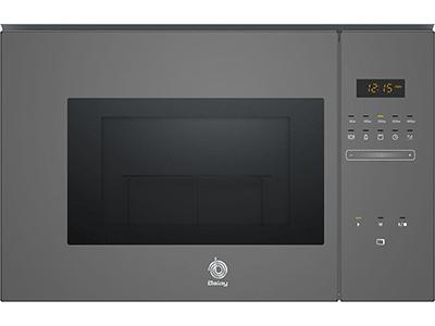 Balay 3CG5172A0 - Horno Microondas Integrable 20 Litros Con Grill Gris
