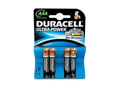 Duracell ALCALINA ULTRA POWER AAA (LR03) K4 - Pila