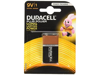 Duracell ALCALINA PLUS POWER 9V (6LR61) K1 - Pila
