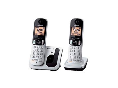 Panasonic KX-TGC212SPS - Telefono Sobremesa Duo Gris-negro