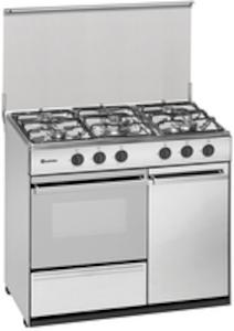 Meireles G 2950 DV X - Cocina De Gas 5 Zonas Coccion Con Portabombonas Inox Gb