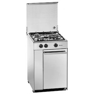 Meireles 5302 DV X - Cocina De Gas 3 Zonas Coccion Con Portabombonas Inox Gb
