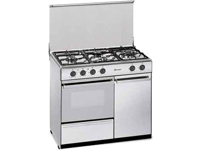 Meireles E 921 X - Cocina De Gas 4 Zonas Coccion Con Portabombonas Inox Gb