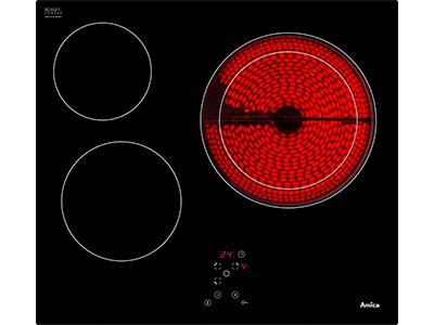 Amica APV6310 - VictrocerAmica Independiente Radiantes 3 Zonas Coccion Ancho 60 Cm