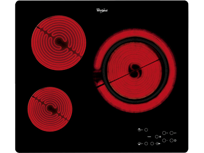 Whirlpool AKT 807/BF - Victroceramica Independiente 3 Zonas Coccion Ancho 60 Cm
