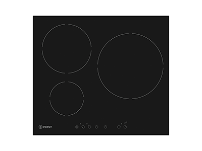 Indesit IVIA630LC - Vitroceramica Induccion 3 Zonas Coccion Ancho 60 Cm