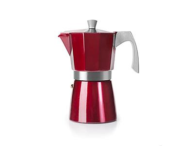 Ibili 623202 - Cafetera Italiana Evva Red 2 Tazas