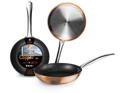 Ibili NATURA COPPER - Sarten 12 Cm