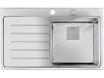 Teka ZENIT R15 1C 1E 86 IZQDA - Fregadero De Cocina Acero 51 Cm 1 Cubeta 1 Escurridor