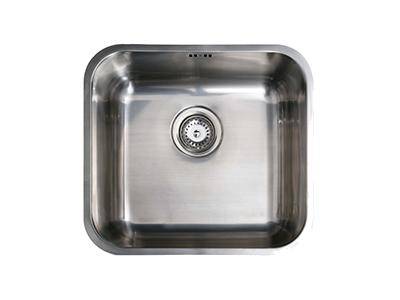 Cata CB 45-40 - Fregadero De Cocina Acero 02621009 1 Cubeta 0 Escurridor Bajo Encimera Mueble 60