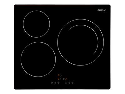 Cata IB 6303BK - Vitroceramica Induccion 3 Zonas Coccion Ancho 60 Cm