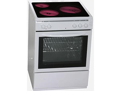 Rommer CVH-63 ELEC VITRO - Cocina Con Vitroceramica 3 Zonas Coccion Blanca
