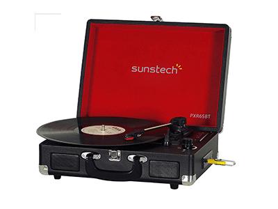 Sunstech PXR6SBTBK - Giradiscos Bluetooth