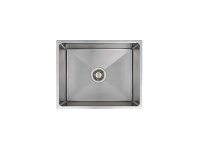 Nodor CUBIC 4512 - Fregadero De Cocina Acero 60 Cm 1 Cubeta 0 Escurridor Bajo Encimera