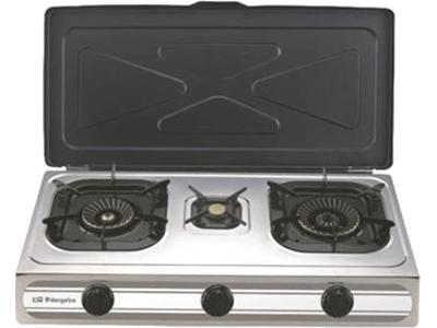 Orbegozo FO 3500 - Hornillo 3zonas Gas Con Tapa Gb