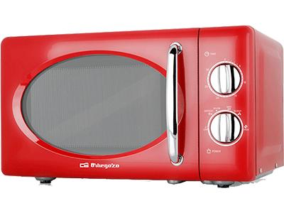 Orbegozo MI2020 - Horno Microondas Sin Grill 20 Litros Rojo