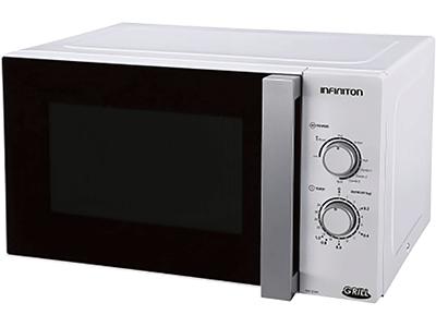 Infiniton MW-1025M - Horno Microondas Con Grill 25 Litros Blanco