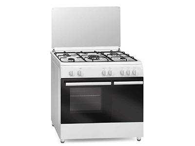 Vitrokitchen CB96PBB - Cocina De Gas 5 Zonas Coccion Con Portabombonas Blanca