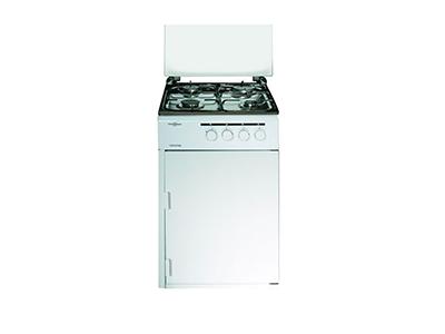 Vitrokitchen CB550PBB - Cocina De Gas 4 Zonas Coccion Con Portabombonas Blanca Gb