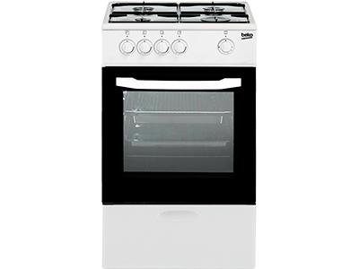 Beko CSG 42010 DWN - Cocina De Gas 4 Zonas Coccion Blanca Gn