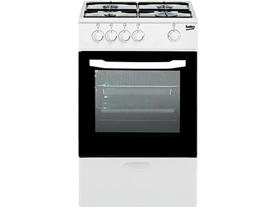 Beko CSG 42009 DW - Cocina De Gas 4 Zonas Coccion Blanca Gb
