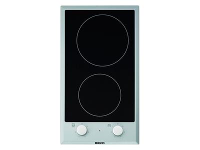 Beko HDCC 32200 X - Encimera Modular Vitro 2 Zonas De Coccion Ancho 30 Cm