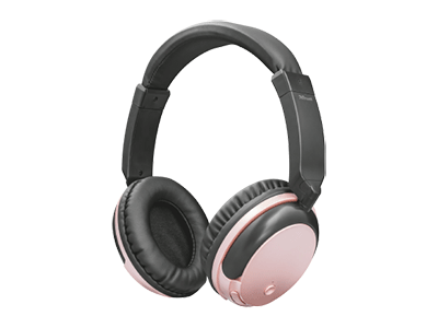 Trust 22453 - Auriculares De Diadema Bluetooth Kodo Rose Gold